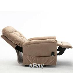 Electric Power Lift Recliner Chair Sofa Heavy Duty Armchair Elderly Seat Fabric