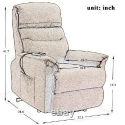 Electric Power Lift Recliner Chair Sofa Heavy Duty Motion Overstuffed Seat Back