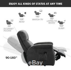 Electric Power Lift Recliner Chair Sofa Heavy Duty Motor for Elderly with Remote