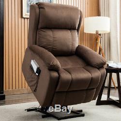 Electric Power Lift Recliner Chair Sofa Overstuffed Lifting Mechanism Elderly