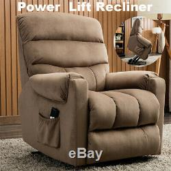 Electric Power Lift Recliner Chair Sofa Overstuffed for Elderly withRemote Control