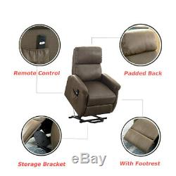 Electric Power Lift Recliner Chair Sofa Padded Armchair Large Lounge For Elderly