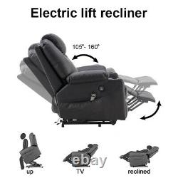 Electric Power Lift Recliner Chair Sofa Padded Seat Elderly Armchair Living Room