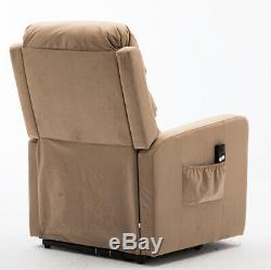 Electric Power Lift Recliner Chair Soft Sofa Overstuffed Safety Remote Control