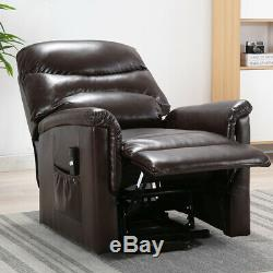Electric Power Lift Recliner Chair Upgrade Motor Leather Padded Overstuffed Sofa
