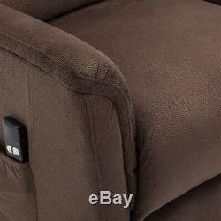 Electric Power Lift Recliner Chair Velvet Fabric Soft Seat For Elderly Standup