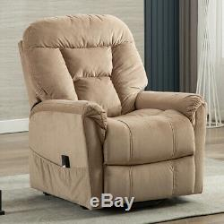 Electric Power Lift Recliner Chair for Elderly Comfortable Faux Suede with RC