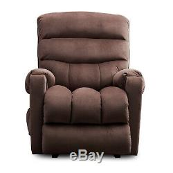 Electric Power Lift Recliner Chair for Elderly Overstuffed Fabric Armchair Sale