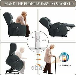 Electric Power Lift Recliner Chair withHeat and Vibration Massage Remote Control