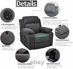 Electric Power Lift Recliner Chair withMassage Heat Home Theater Seat for Elderly