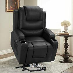 Electric Power Lift Recliner Chair with Massage and Heat for Living Room