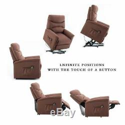 Electric Power Lift Recliner Eldly Armchair Lounge Living Room Sofa Soft Durable