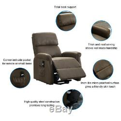 Electric Power Lift Recliner Fabric Sofa Chair Lounger Living Room For Elderly