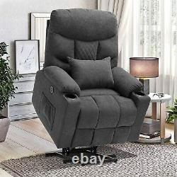 Electric Power Lift Recliner Massage Chair withCup Holders for Elderly Living Room