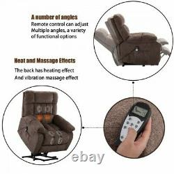 Electric Power Lift Recliner Massage Chair withHeat Vibration Padded Cushion Chair
