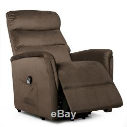 Electric Power Lift Recliner Massage Chair with Warm Fabric And Remote Control