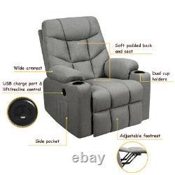 Electric Power Lift Recliner Massage Sofa
