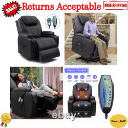 Electric Power Lift Seat Recliner Chair Armchair Padded with Heat and Message