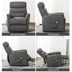 Electric Power Massage Lift Chair Heat Vibration Recliner Armchair sofa Elderly