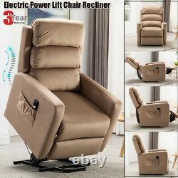 Electric Power Recliner Auto Massage Lift Chair Overstuffed Chair Sofa Elderly