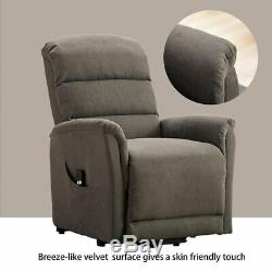 Electric Powered Lift Recliner Chair Elderly Chair Bedroom Sofa + Remote Control
