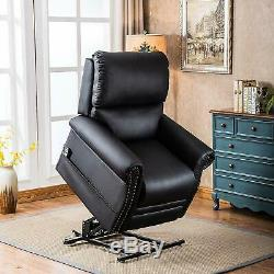 Electric Recliner Chair Power Lift PU Leather WithMassage Sofa Remote Control