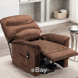 Electric Recliner Power Lift Sofa Chair Remote Reclining Large Cushion Elderly