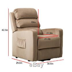 Fabric Electric Power Lift Recliner Chair Elderly Armchair Lounge Seat Sofa with R