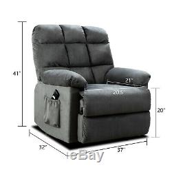 Fabric Power Lift Chair Electric Recliner for Elderly 3 Positions Lounge Sofa RC