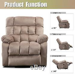 Fabric Power Lift Chair for Elderly with Heat & Vibration Massage Arm Chair Sofa