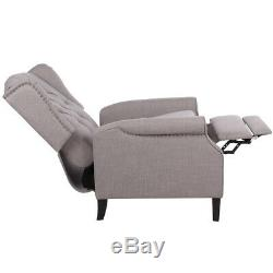 Fabric Power Lift Recliner Sofa with Heavy Duty Lifting Mechanism Button Gray US