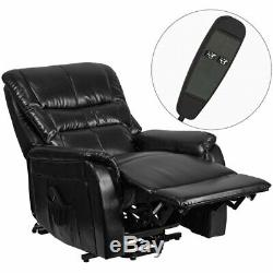 Flash Furniture Remote Powered Lift Recliner In Black Leather