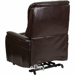 Flash Furniture Remote Powered Lift Recliner In Brown Leather
