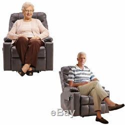 Full Automatic Electric Power Lift Recline Massage Chair Zero Gravity Heat Brown
