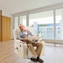 Full Automatic Electric Power Lift Recline Massage Chair Zero Gravity Heat Wheel