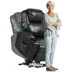 Giantex Electric Power Lift Chair Recliner With Remote Control & Cup Holder NEW