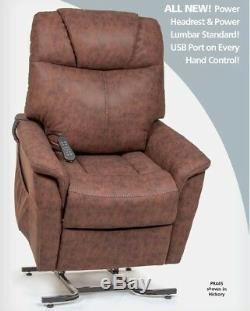 Golden PR445 Siesta Series Power Lift Chair Recliner, withPower Lumbar & Headrest