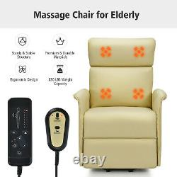 Gorelax Electric Power Lift Massage Recliner Chair Sofa withRemote Control Beige
