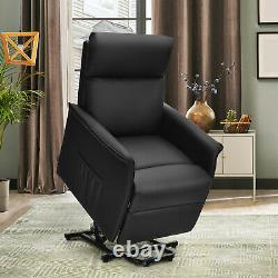 Gorelax Electric Power Lift Massage Recliner Chair Sofa withRemote Control Black