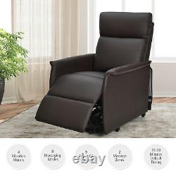 Gorelax Electric Power Lift Massage Recliner Chair Sofa withRemote Control Brown