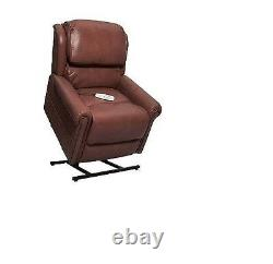 Grey 3-Position Power Recline & Lift Chair Pecan