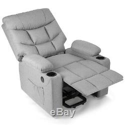 Grey Full Automatic Electric Power Lift Massage Chair Heat Recline USB withControl