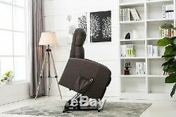 Grey Linen Reclining Chair Modern Power Lift Chair Recliner Living Room Chair