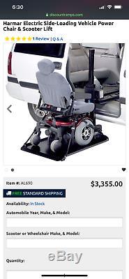 Harmar AL690 Side Door Hybrid Platform Van Lift wheel chair power chair