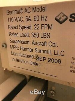 Harmar Summit Series AC Powered Stairway Stair Chair Lift 15' Long 14 Steps Used