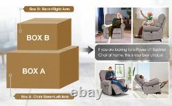 Heavy Duty Power Lift Recliner Chair Heat Vibration Massage Sofa Remote Control