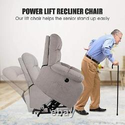 Heavy Duty Power Lift Recliner Chair Massage Heated Vibration Sofa For Elderly