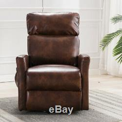 High Back Leather Power Lift Recliner Sofa Electric Remote Control Padded Chair