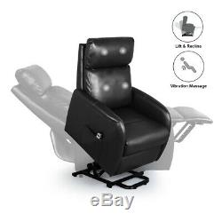 Home Power Electric Lift Chair for Elderly, Faux Leather Massage Recliner