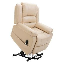 Homegear Air Leather Dual Motor Power Lift Electric Recliner Chair with Remote